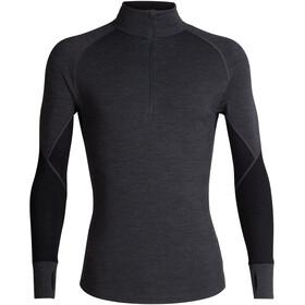 Icebreaker 260 Zone LS Half-Zip Shirt Herre jet heather/black